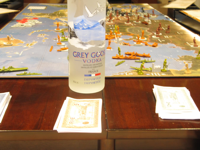 Axis & Allies board: Drink Responsibly!