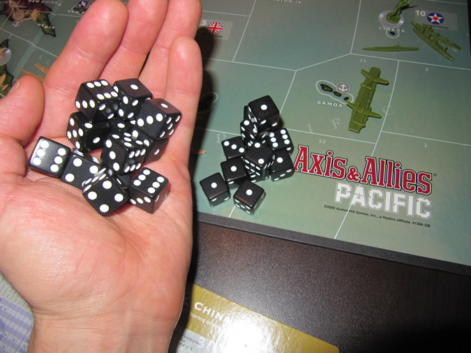 Axis & Allies Pacific: Game Dice