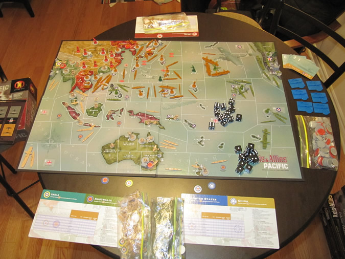 Axis & Allies Pacific: Setup