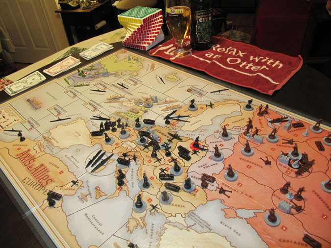 Axis & Allies Europe - game board