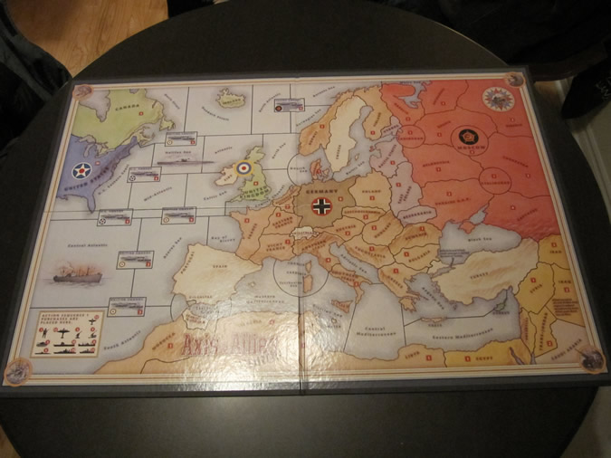 Axis & Allies Europe Game Board