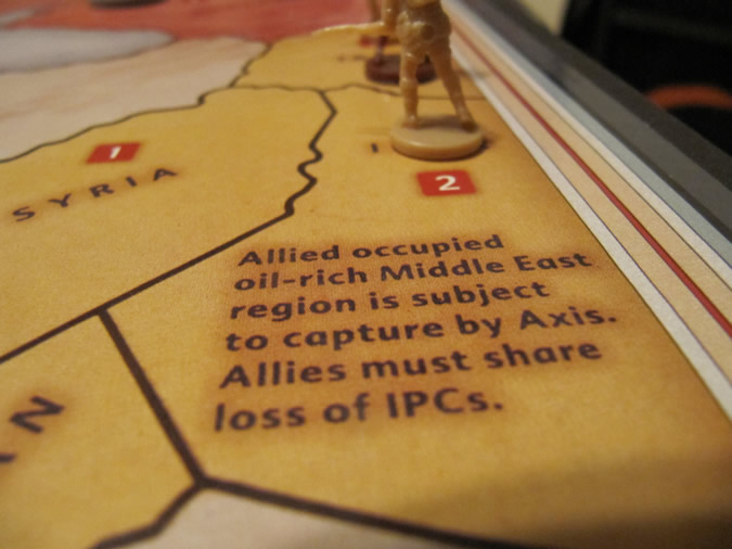 Middle East Capture Target - Axis & Allies Europe