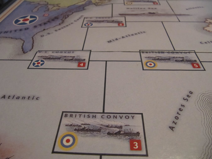 Convoy Ship Zones - Axis & Allies Europe