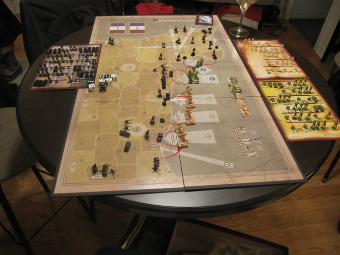 Axis & Allies D-Day Starting Setup