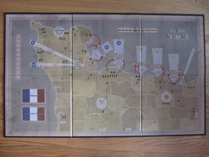 Axis & Allies D-Day Game Board