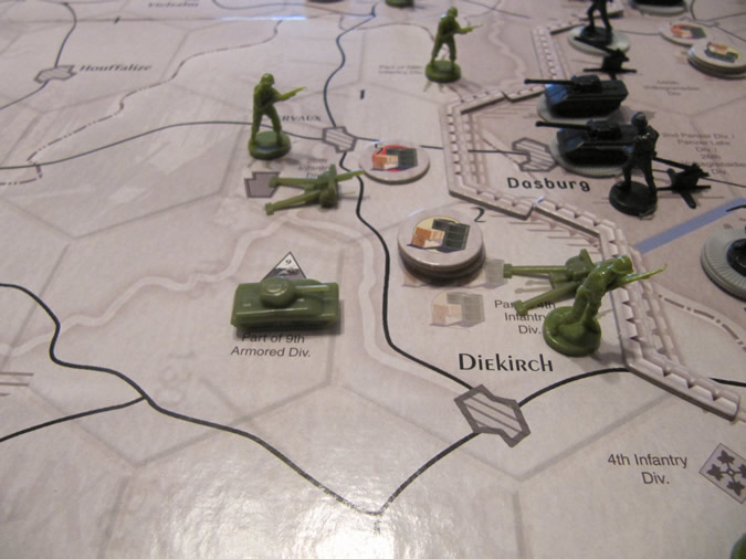Axis & Allies Battle of the Bulge - Start of the Game - New Hex Territories