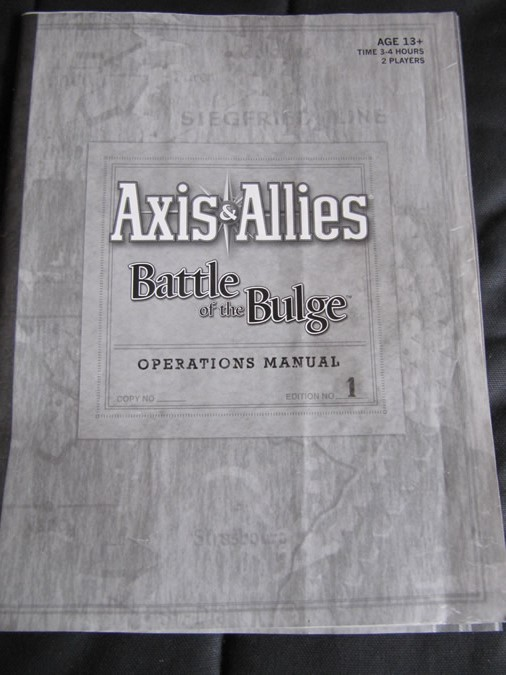 Axis & Allies Battle of the Bulge - Rule Book