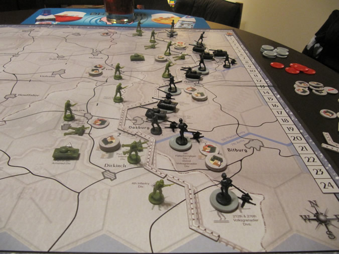 Axis & Allies Battle of the Bulge - Start of the Game