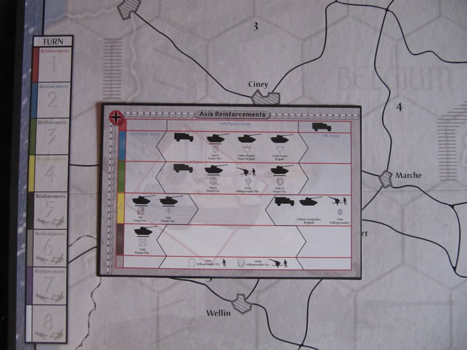 Axis & Allies Battle of the Bulge - Turn Chart