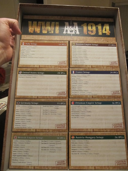 Axis & Allies WWI 1914 - Inside the Box