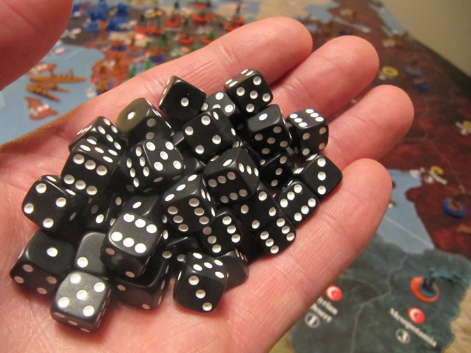 Axis & Allies WWI 1914 - Smaller Dice