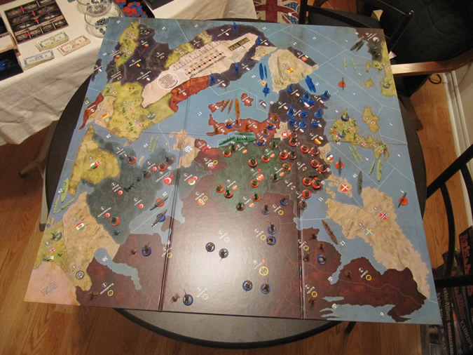 Axis & Allies WWI 1914 - Beginning Set Up