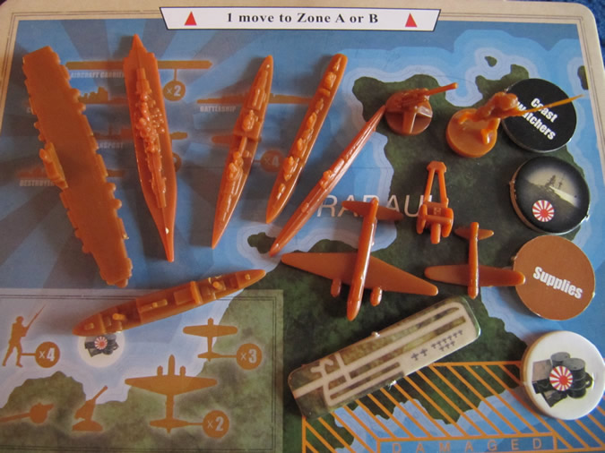 Axis & Allies Guadalcanal: Japanese Navy and Land Units