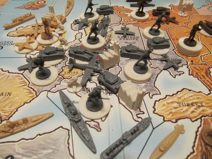 Axis & Allies - Germany at Start of Game