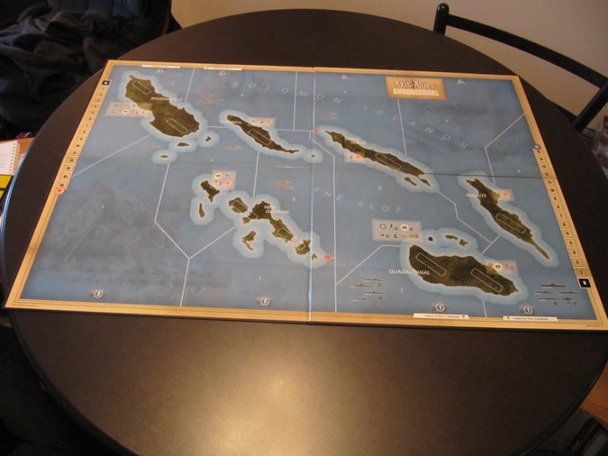 Axis & Allies Guadalcanal: Game Board