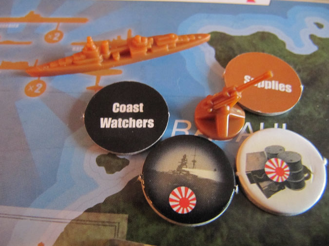 Axis & Allies Guadalcanal: New anti-aircraft and supply tokens