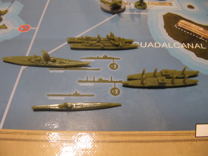 Axis & Allies Guadalcanal: USA Navy