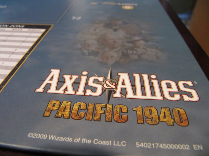 Axis & Allies Pacific 1940 - Board Art