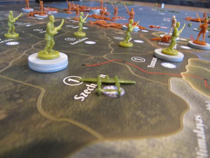 Axis & Allies Pacific 1940 - China Supported by USA Fighter