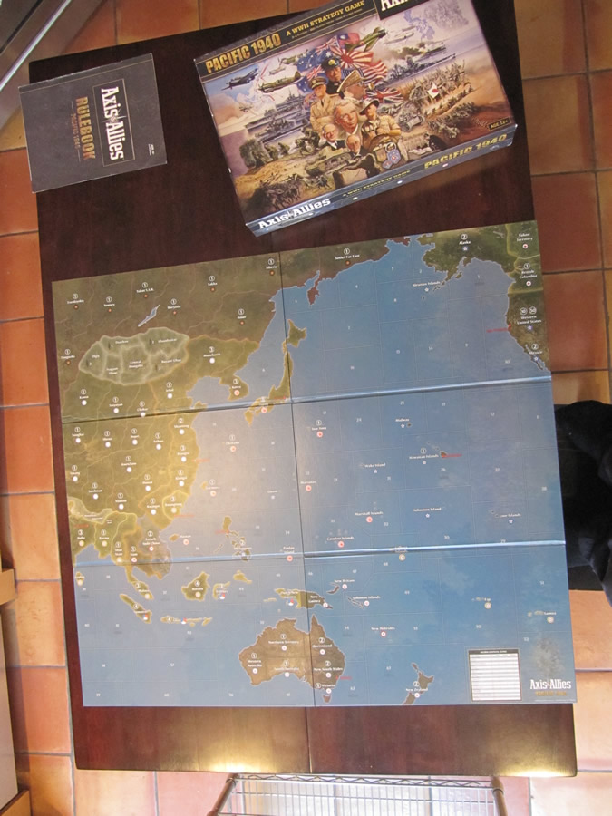 Axis & Allies Pacific 1940 - Game Board