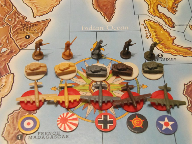 Axis & Allies Player Pieces