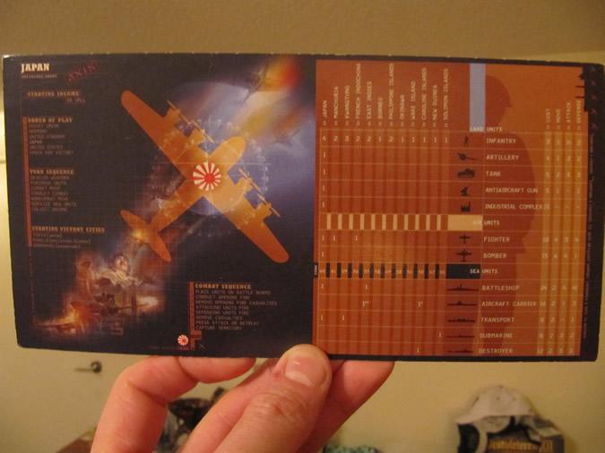 Axis & Allies Revised: Setup card -- Japan