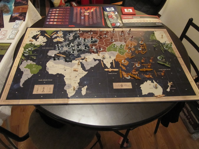 Axis & Allies Revised: Starting setup
