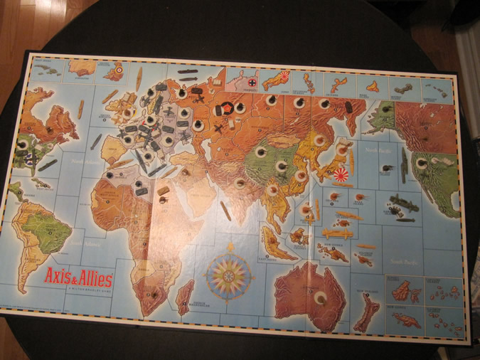 Axis & Allies - Start of Game Board
