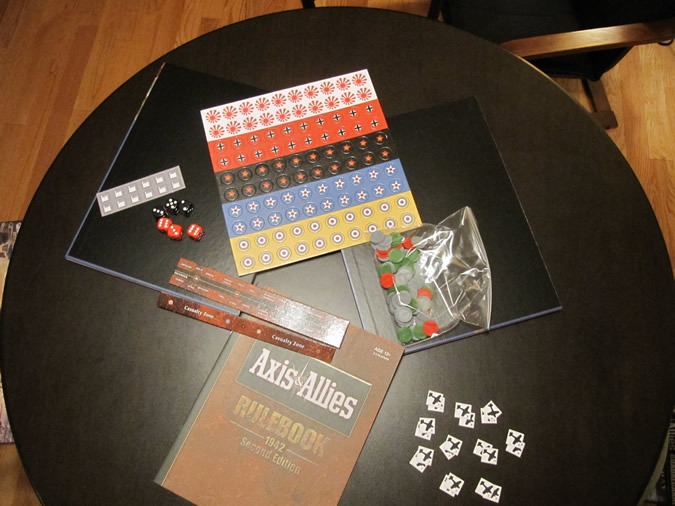 Axis & Allies 1942 - Punch out tokens