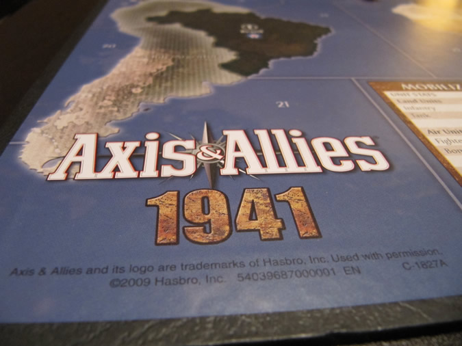 Axis & Allies 1941 - Board art.