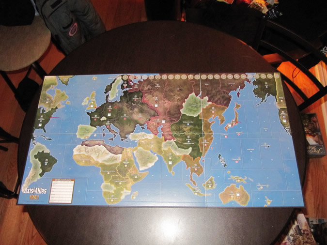 Axis & Allies 1941 - Game Board