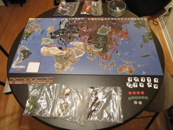Axis & Allies 1941 - Game Board Ready to Play