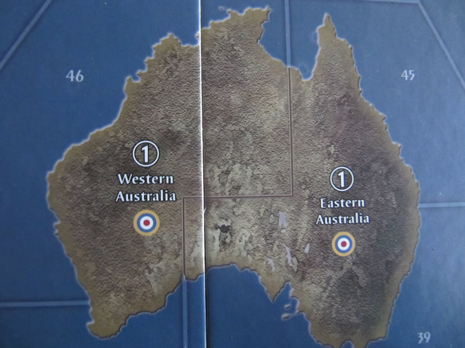 Axis & Allies 1942 - Australia - 2 territories.