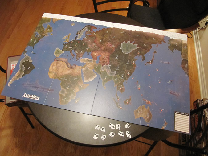Axis & Allies 1942 - Game board.
