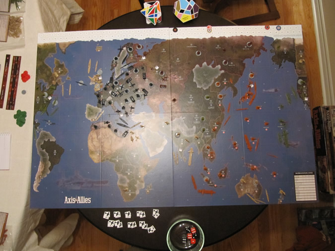 Axis & Allies 1942 - Game set up.