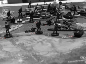 Axis & Allies 1942 - Germany at start of game.