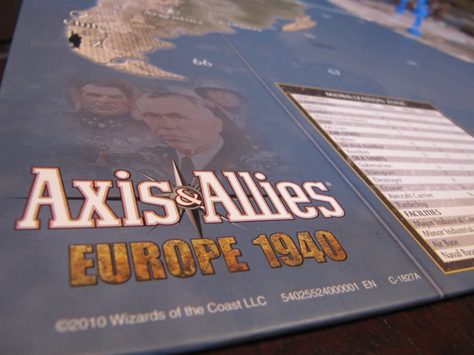 Axis & Allies Europe 1940 - Board art.