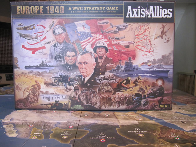 Axis & Allies Europe 1940 - The box cover.