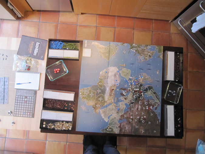 Axis & Allies Europe 1940 - Game board set up.