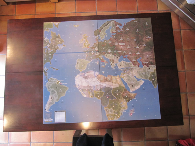 Axis & Allies Europe 1940 - Game board.