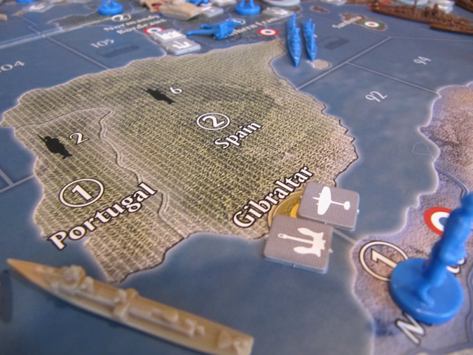 Axis & Allies Europe 1940 - Naval Base and Air Base