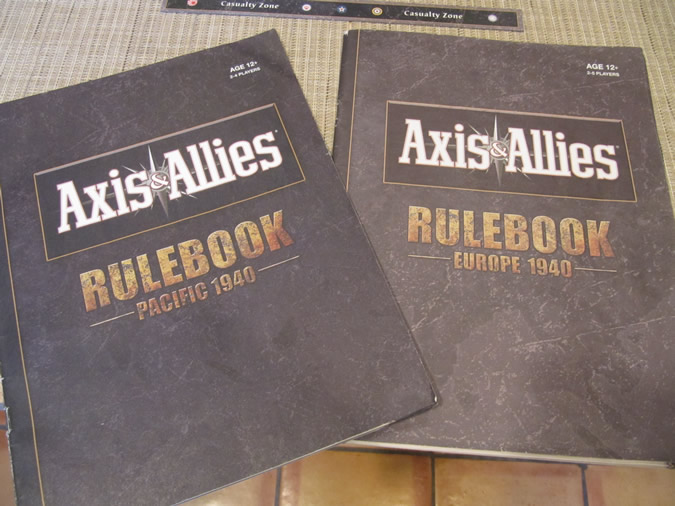 Axis & Allies Global 1940: Pacific 1940 and Europe 1940 rule books required.