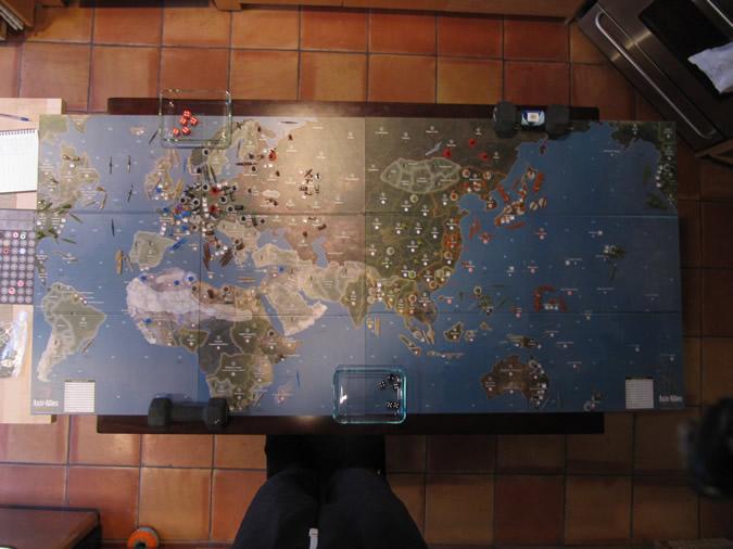 Axis & Allies Global 1940: Starting setup.