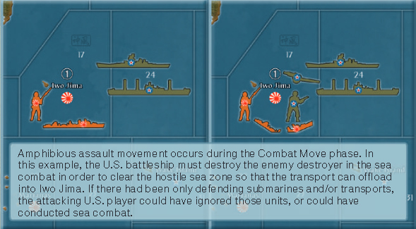 Amphibious assault movement occurs during the Combat Move phase.