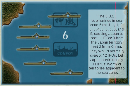 Axis & Allies 1940 Convoy Damage Example