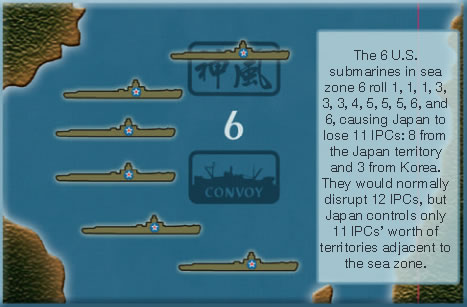 Axis & Allies - Convoy Rule - Example 1