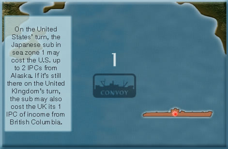 Axis & Allies - Convoy Rule - Example 2