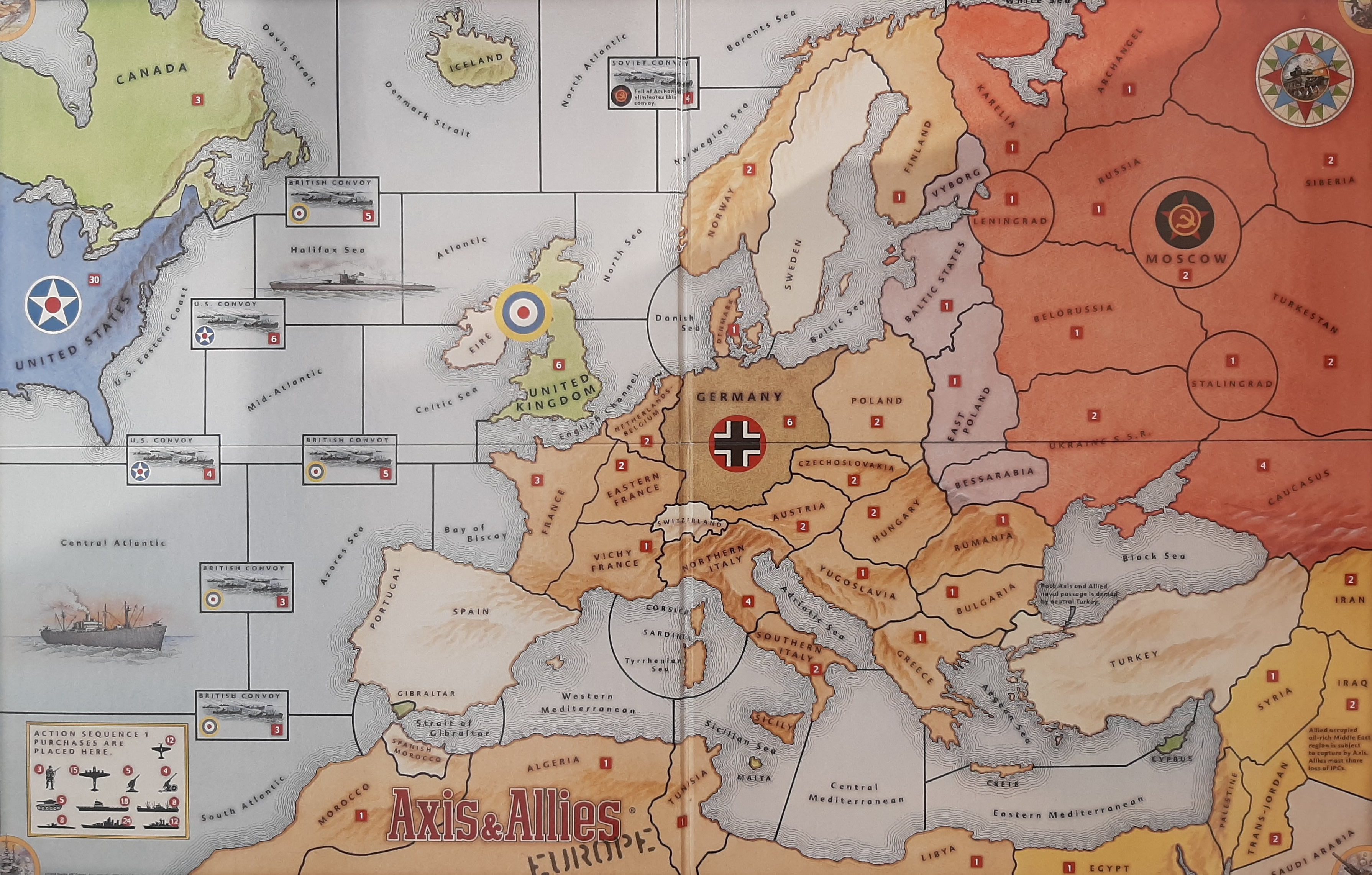 axis and allies europe map Axis & Allies Europe Map: Game board  and PDF