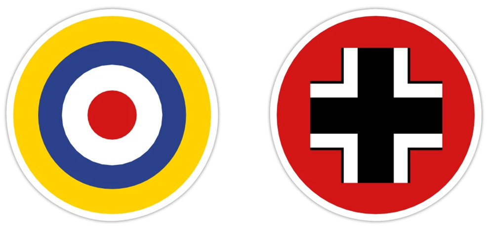 Axis & Allies Stickers - UK and Germany Symbols